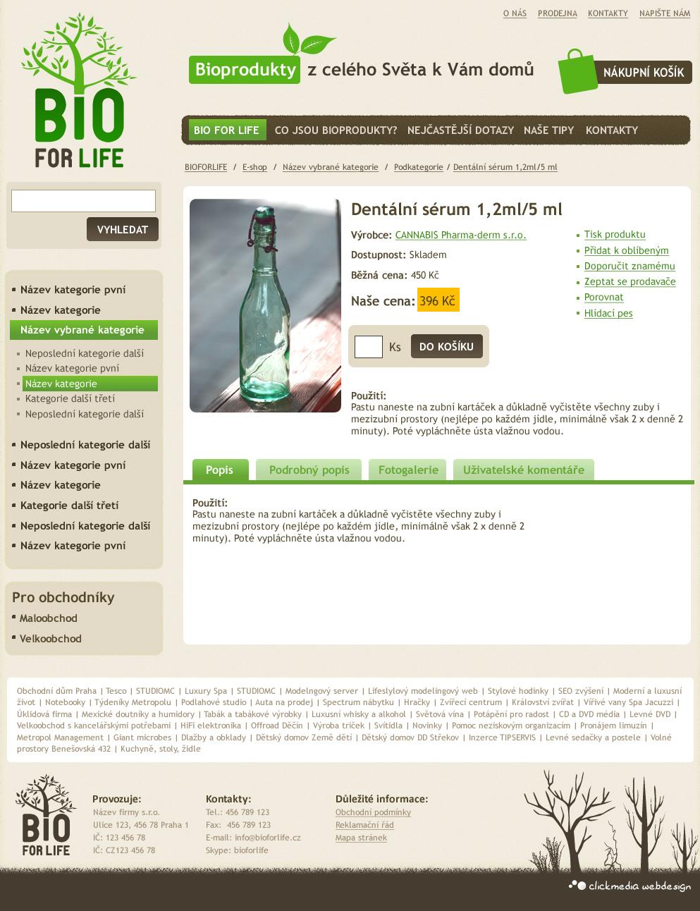 Prodejce bio-potravin a ekologických produktů