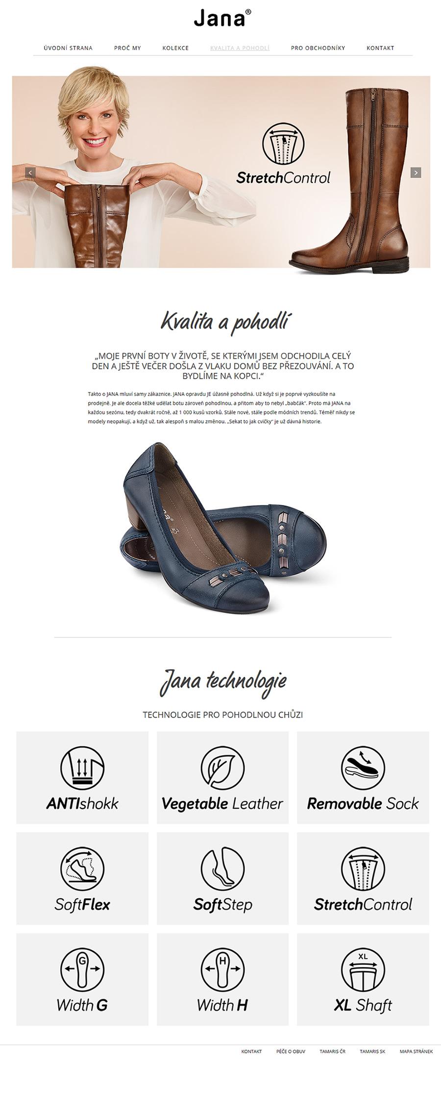 Pohodlná dámská obuv