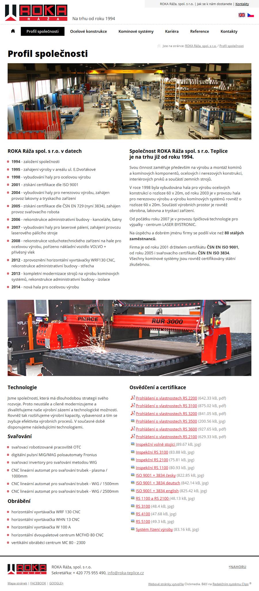 Výrobce komínů a ocelových konstrukcí