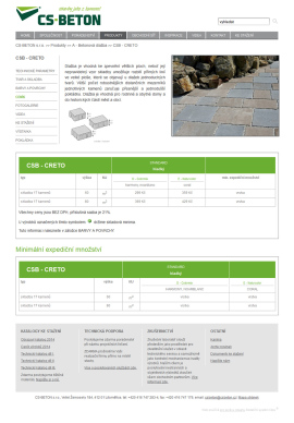 Výrobce betonových prvků