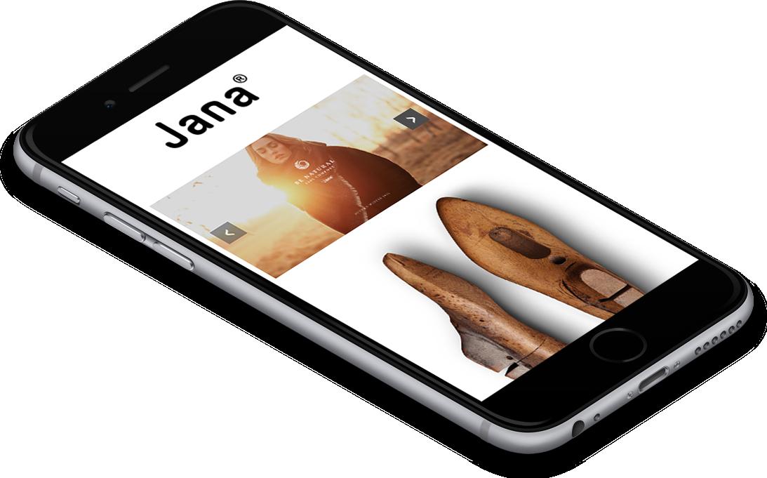 responzivní verze webu Jana® obuv