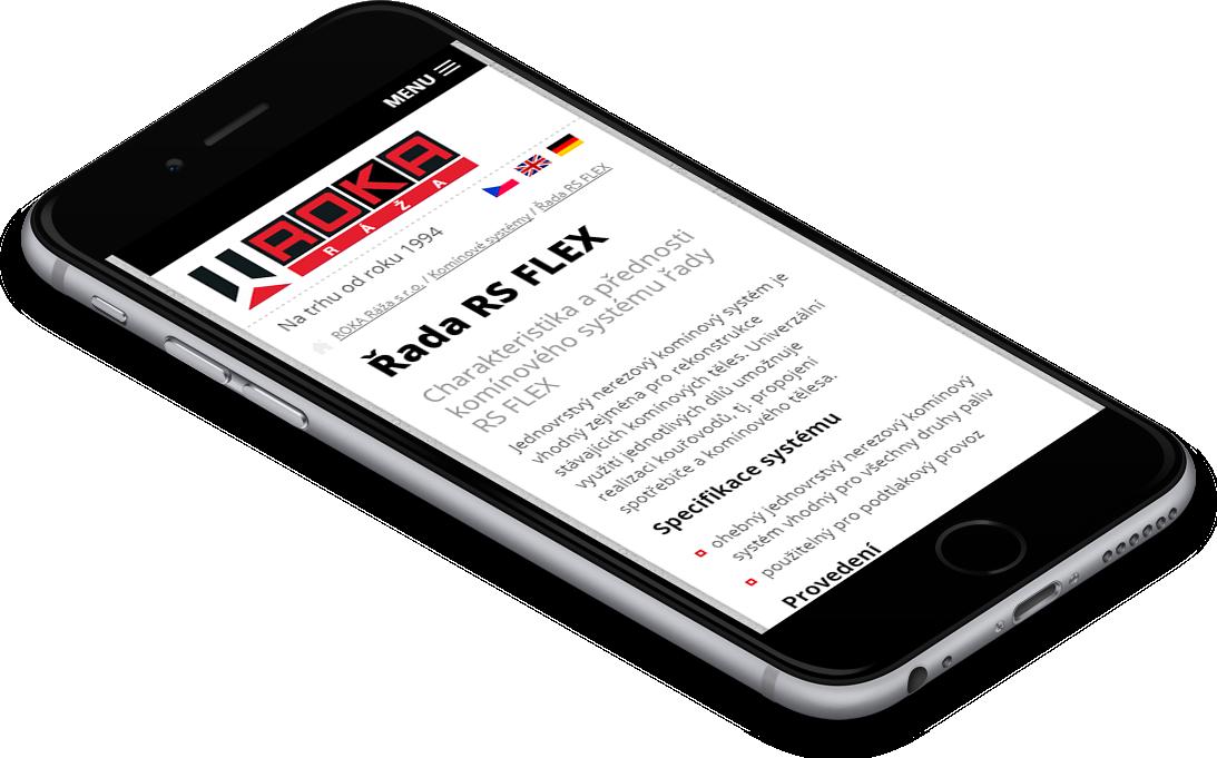 responzivní verze webu ROKA Ráža, spol. s r.o.