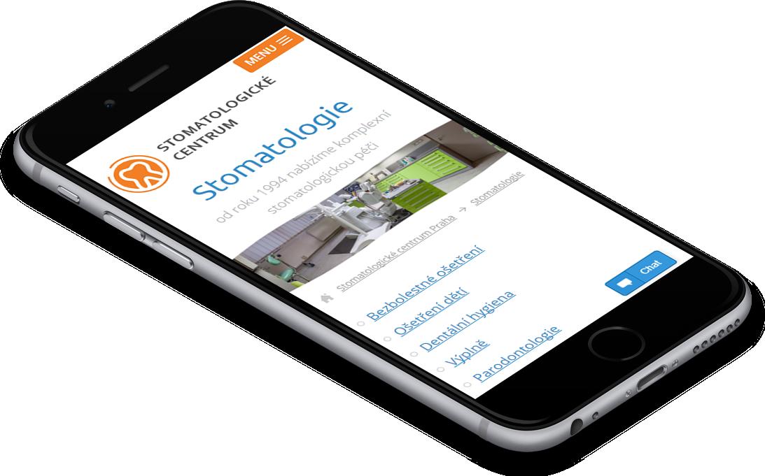 responzivní verze webu Stomatologické centrum Praha