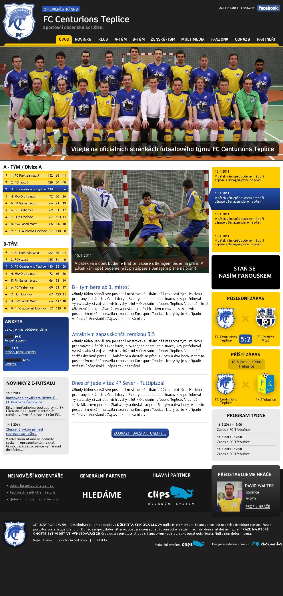 Futsalový tým z Teplic