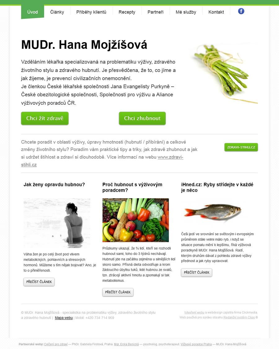 Webové stránky výživové poradkyně