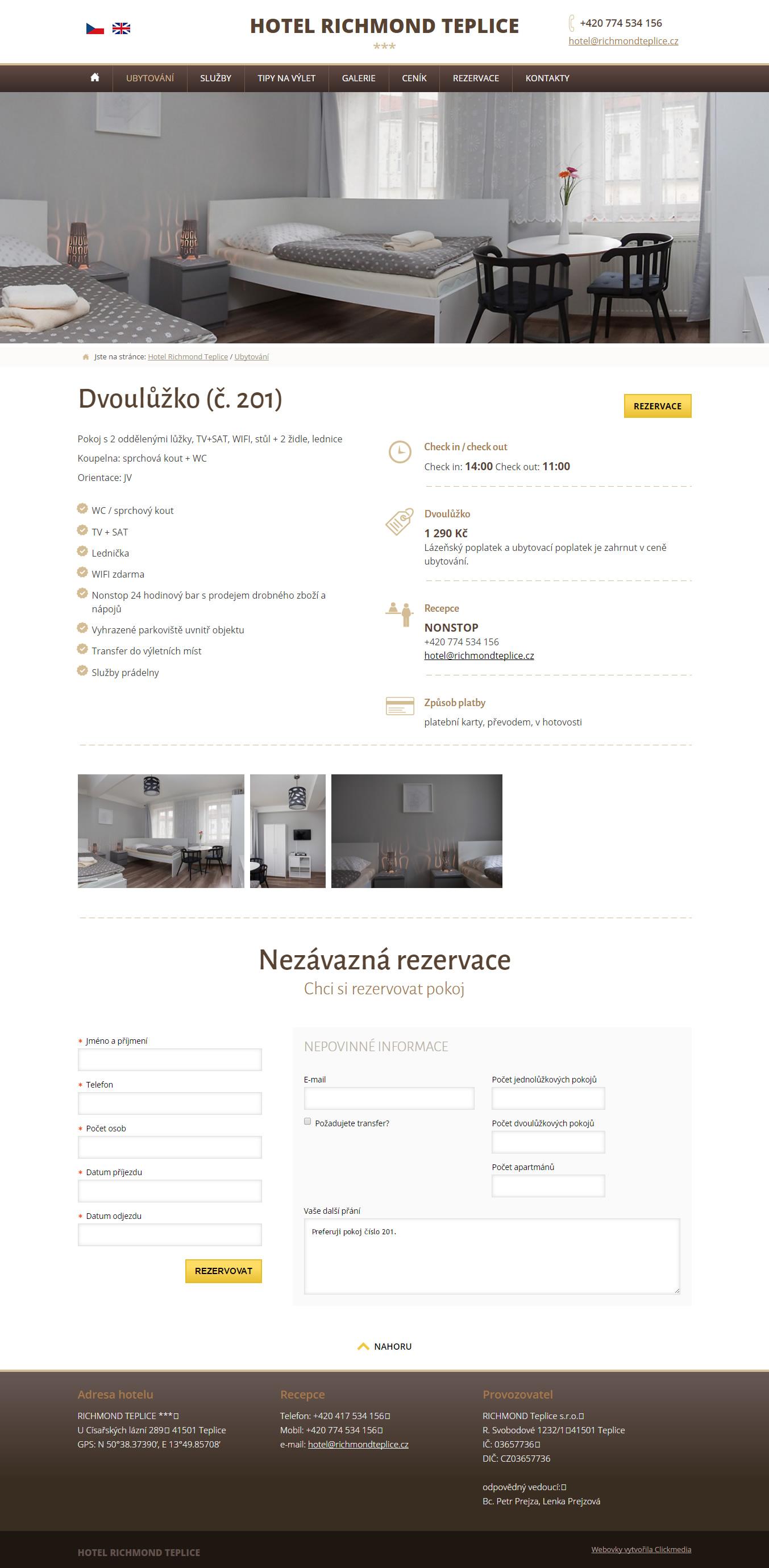 Příjemné ubytování v centru lázeňského města