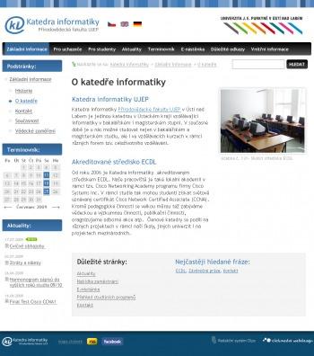 Oficiální webové stránky katedry informatiky